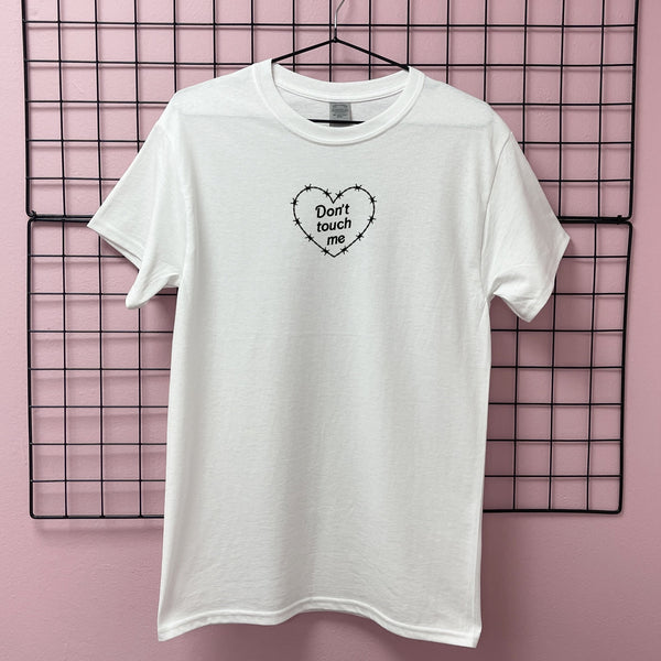 DON'T TOUCH ME HEART T-SHIRT