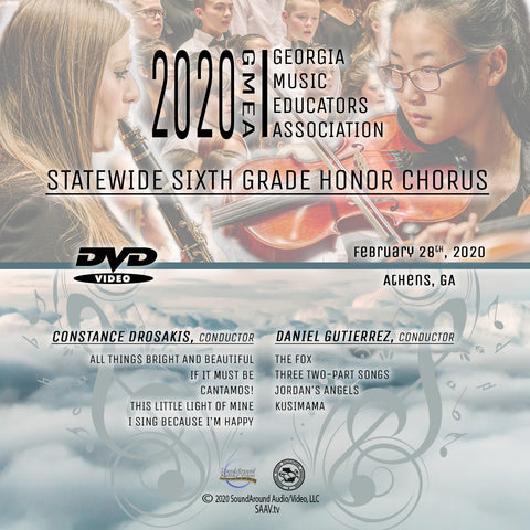 2020 Statewide 6th Grade Honor Chorus