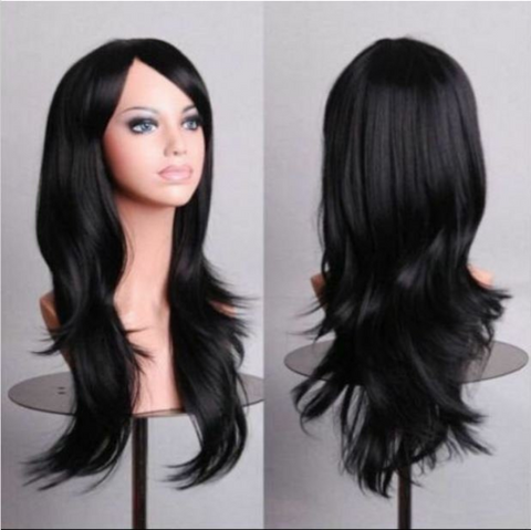 Wigs For Women Black  Straight / Wave Wigs With Bangs Synthetic Wigs  Bob Wig