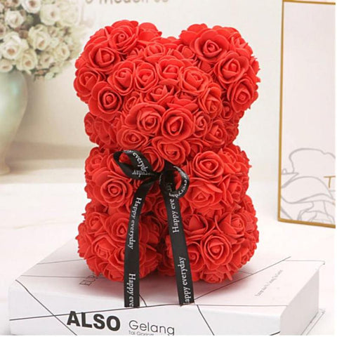 23cm Foam Teddy Bear of Roses Bear Rose Flower Best Friend Gift