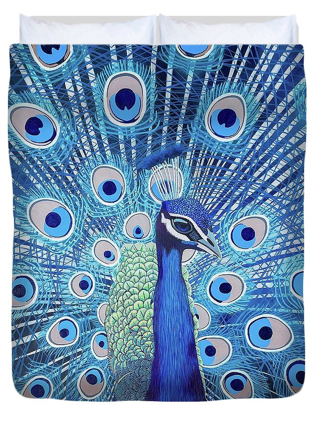 Blue Peacock - Duvet Cover