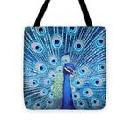 Blue Peacock - Tote Bag