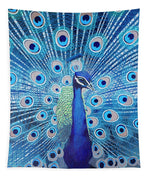 Blue Peacock - Tapestry
