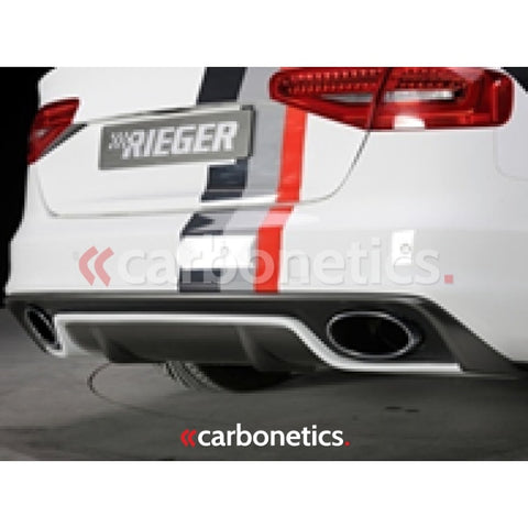 2013-2014 Audi A4 S4 B8 Facelift B8.5 Rieger Rs5 Style Muffer Tips Accessories