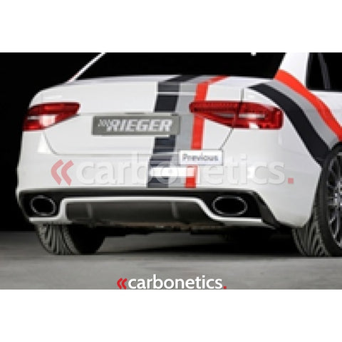 2013-2014 Audi A4 S4 B8 Facelift B8.5 Rieger Rs5 Style Rear Bumper W/ Diffuser Accessories