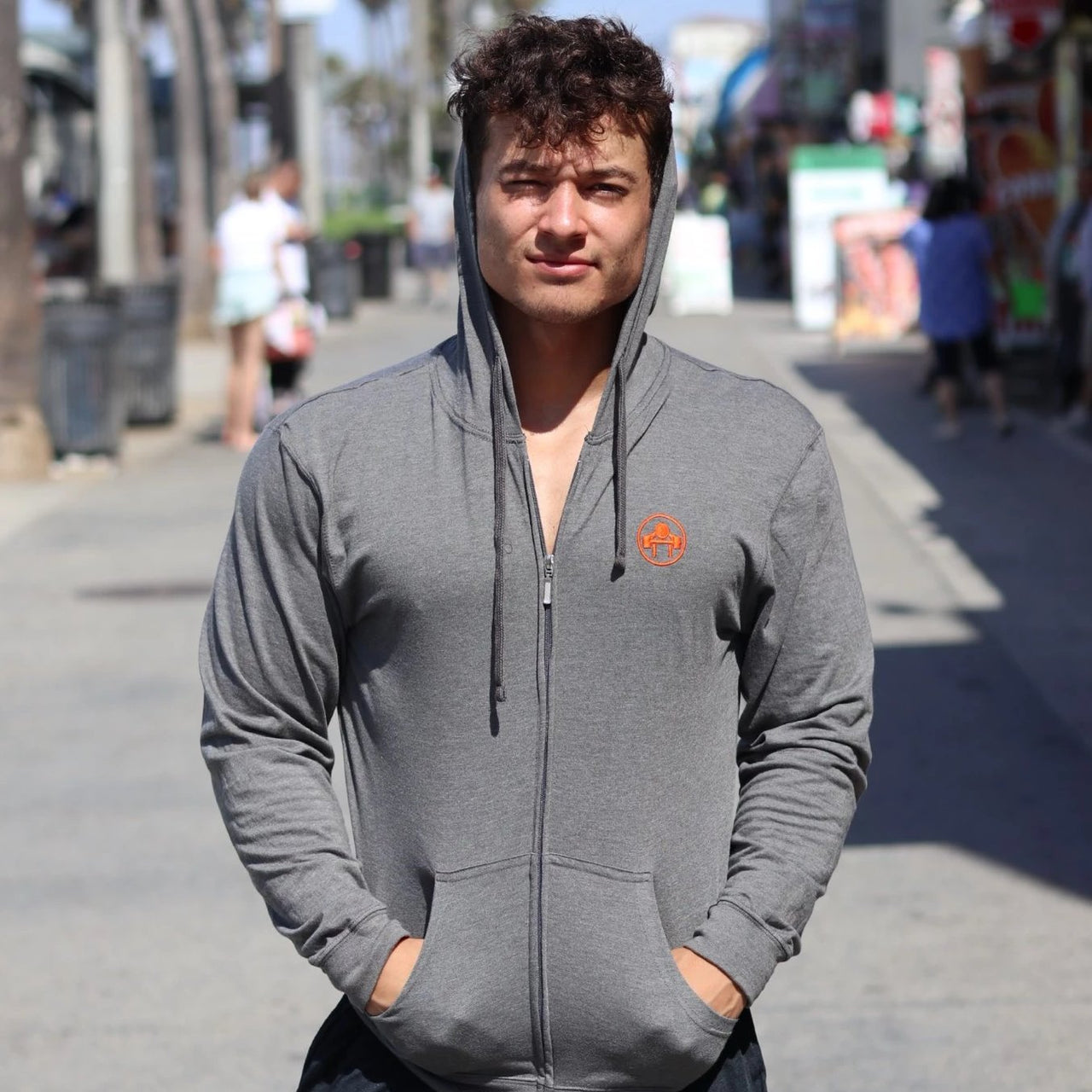 Circle Elite Zip Hoodie - Muscle Beach