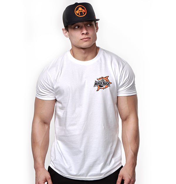 SHARK CRUNCH T-SHIRT - Muscle Beach