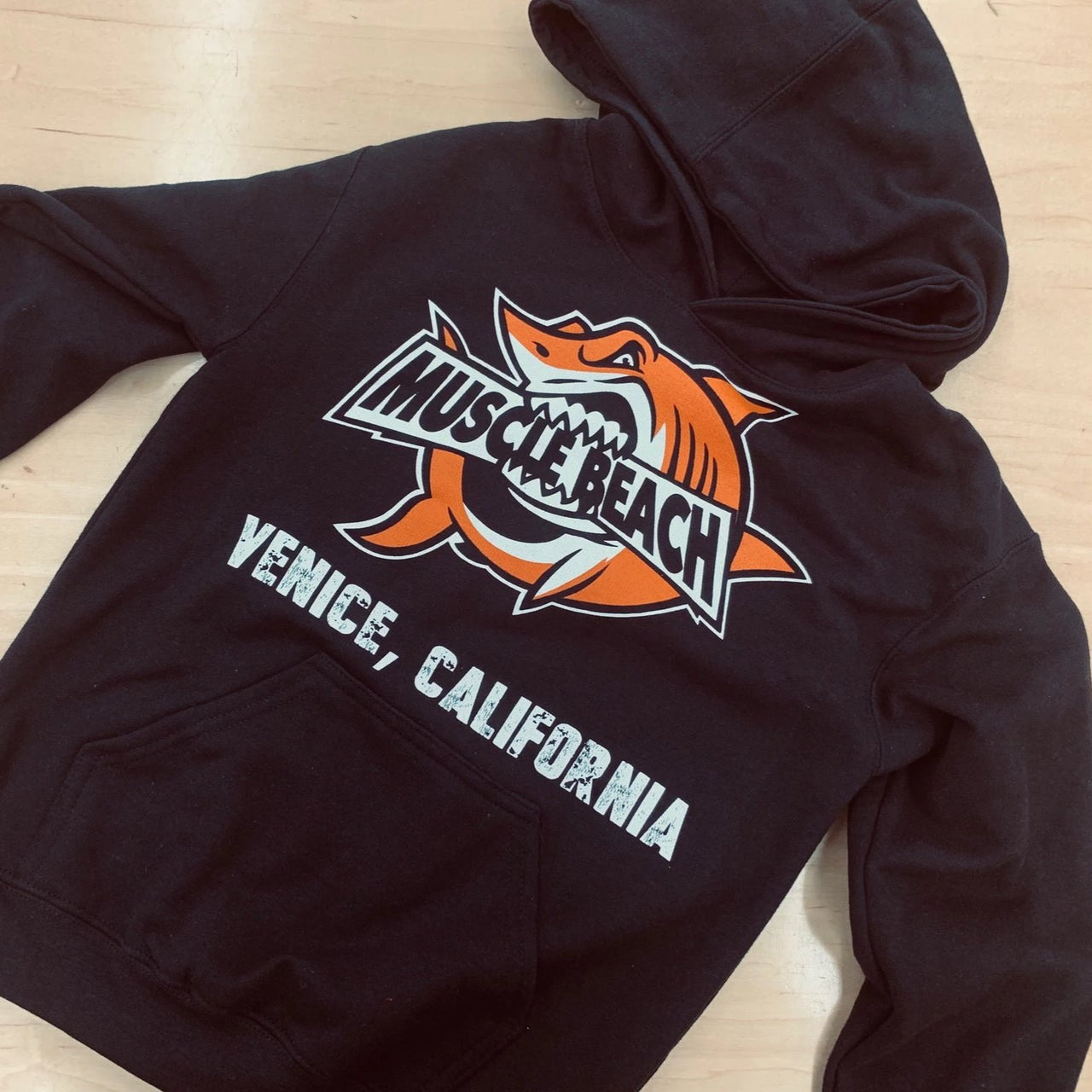 Youth Shark Crunch Hoodie - Muscle Beach