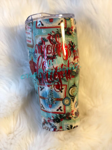 Merry & Bright Christmas Tumbler
