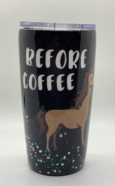 Before Coffee After Coffee Tumbler