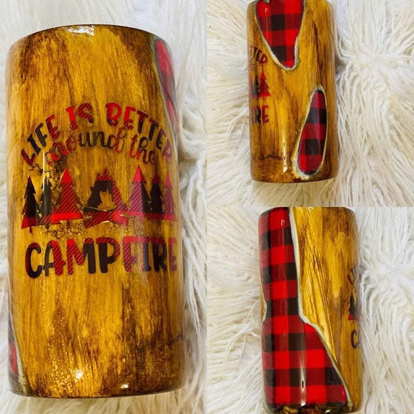 Life is Better Around the Campfire Tumbler