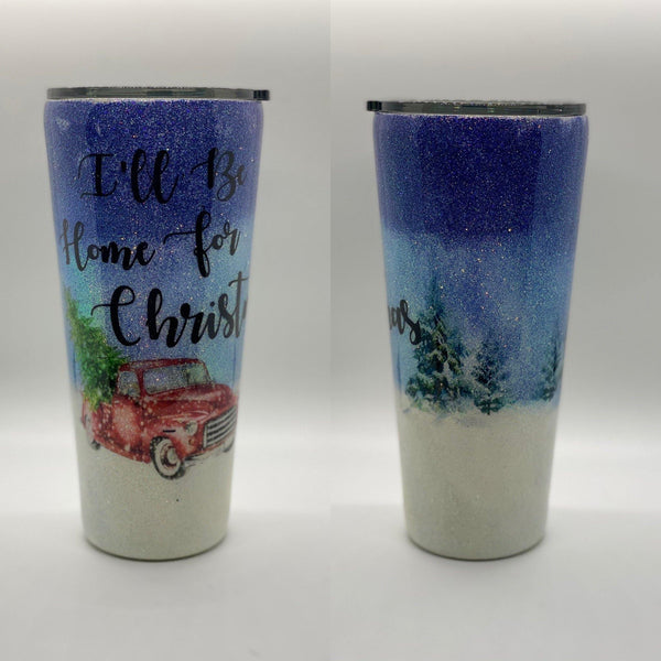 I'll Be Home for Christmas Tumbler