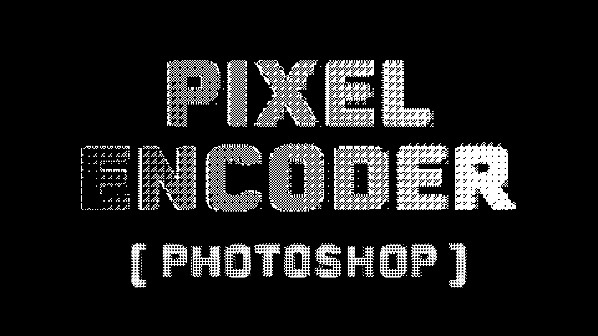 Pixel_Encoder - For Photoshop - Will Cecil