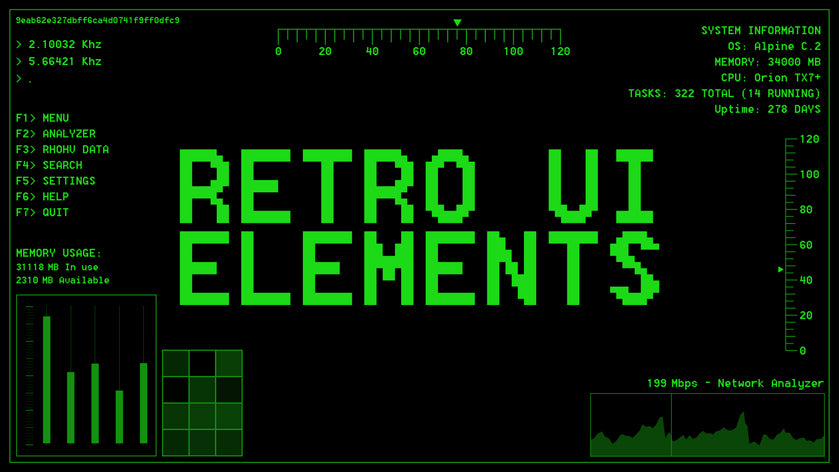 Retro UI Elements