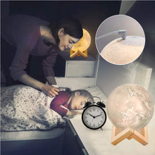 Load image into Gallery viewer, 3D Moon LED Night Lamp & air Humidifier