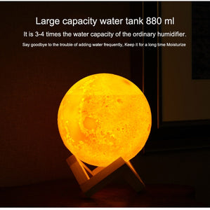 3D Moon LED Night Lamp & air Humidifier