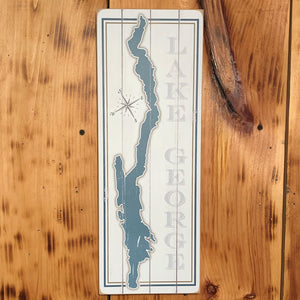 Lake George Map Sign