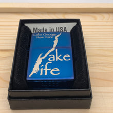 Load image into Gallery viewer, Lake George Lake Life Map Zippo Lighter