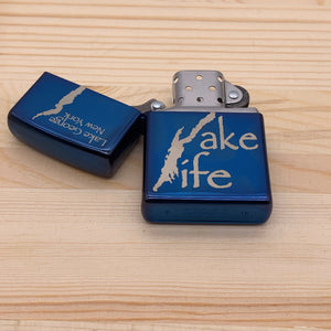Lake George Lake Life Map Zippo Lighter