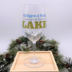 What Happens at the Lake stays at the Lake Acrylic Glass