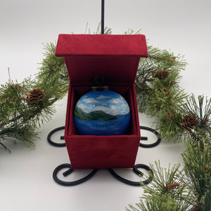 Lake George Painted Glass Ornament