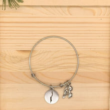 Load image into Gallery viewer, Lake George Map Charm Bangle