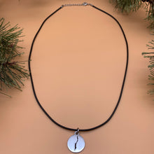 Load image into Gallery viewer, Lake George Map Cord Necklace