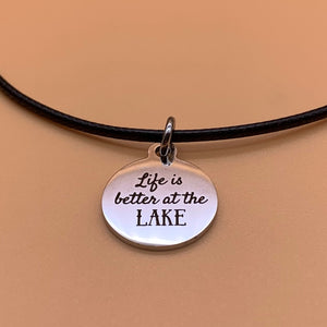 Lake George Map Cord Necklace