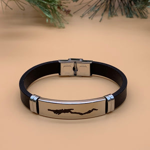 Lake George Map Bracelet