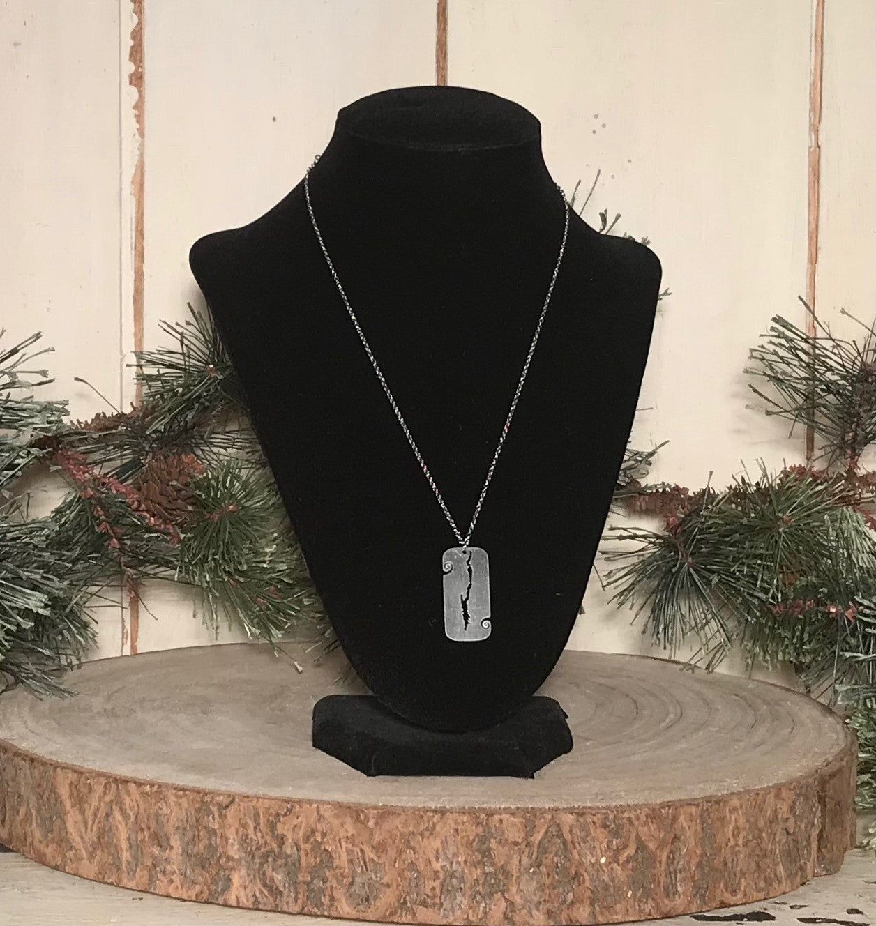 Lake George Map Necklace