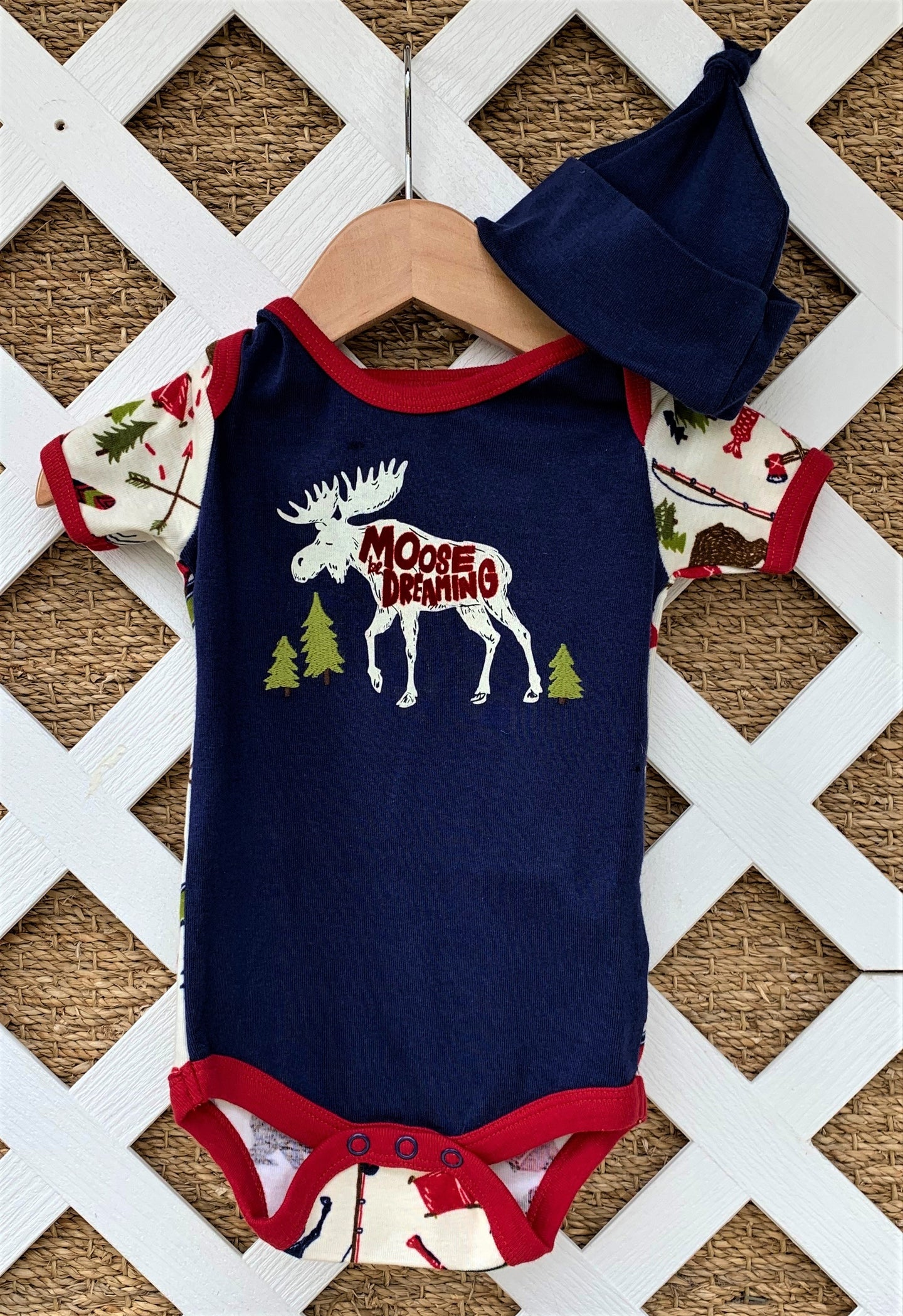 Moose Be Dreaming Onesie and Hat