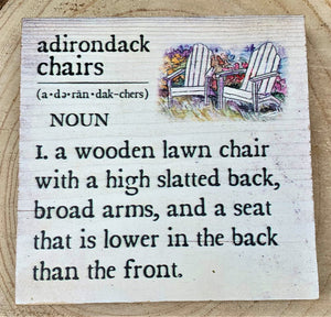 Adirondack Chairs Definition Sign