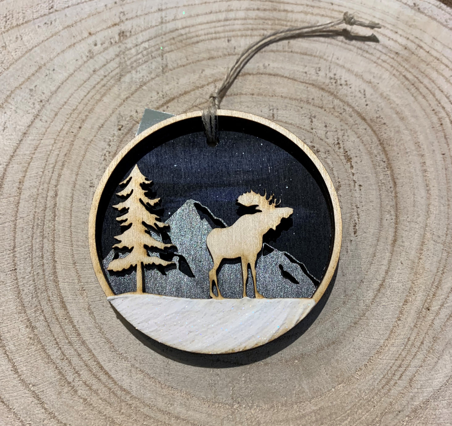 Hand Painted Wood Ornament.