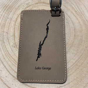 Lake George Map Luggage Tag