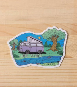 Lake George Hand Drawn Sticker