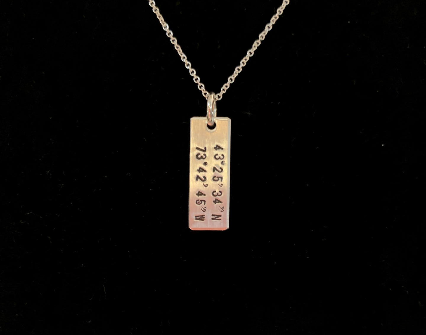 Lake George Coordinates Necklace