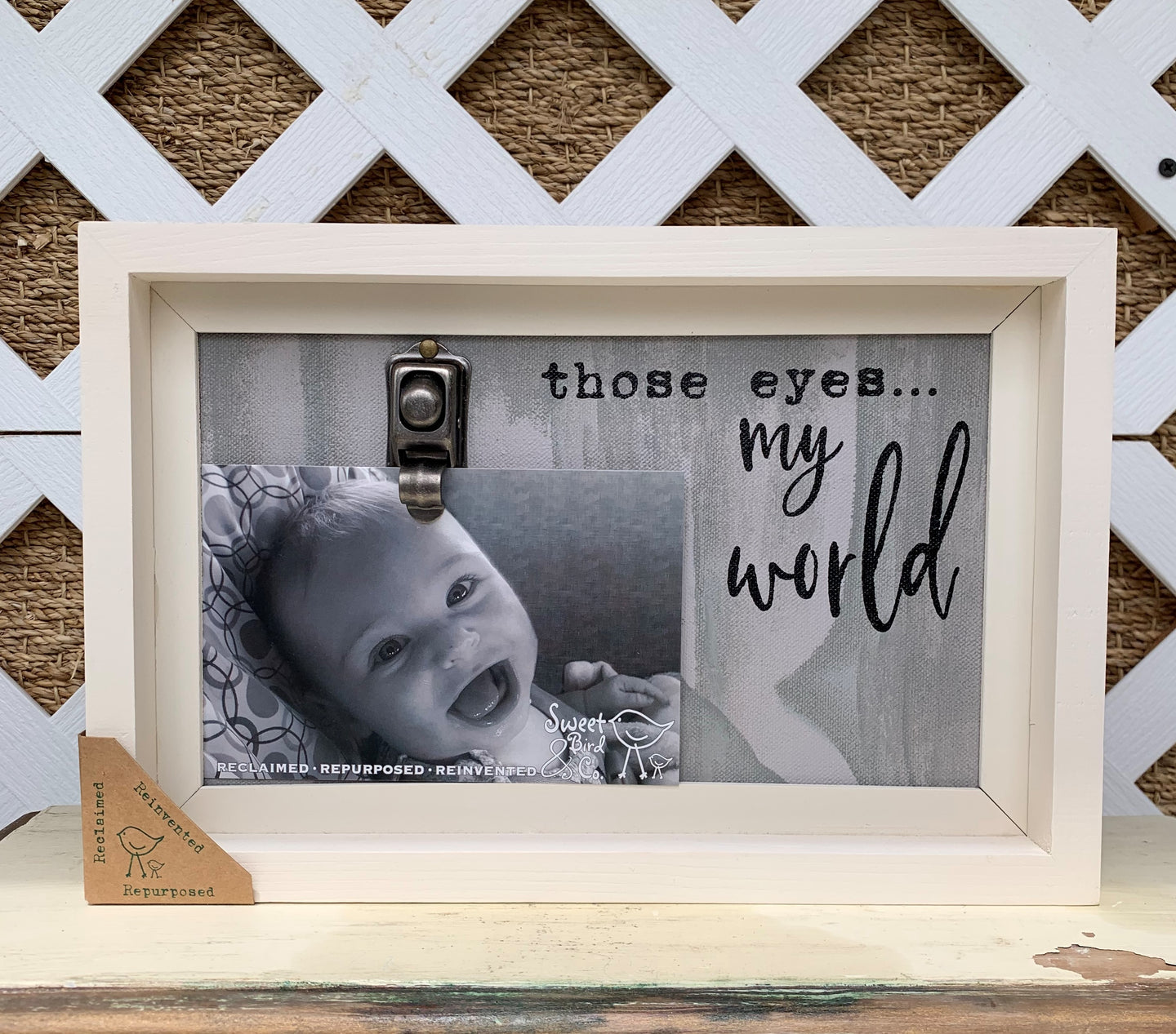 Those Eyes My World Picture Frame