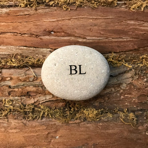 Bolton Landing Etched River Stone
