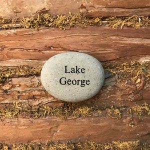 Lake George Etched River Stone