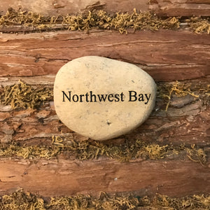 Northwest Bay Etched River Stone