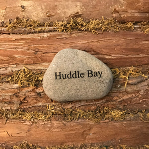 Huddle Bay Etched River Stone