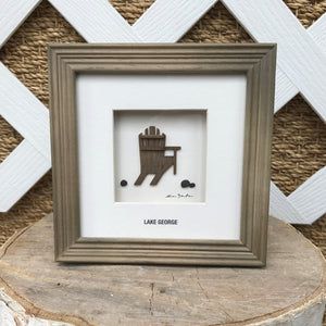 Lake George Adirondack Chair Wall Art