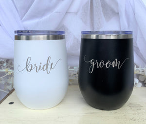 Bride and Groom Insulated Tumblers