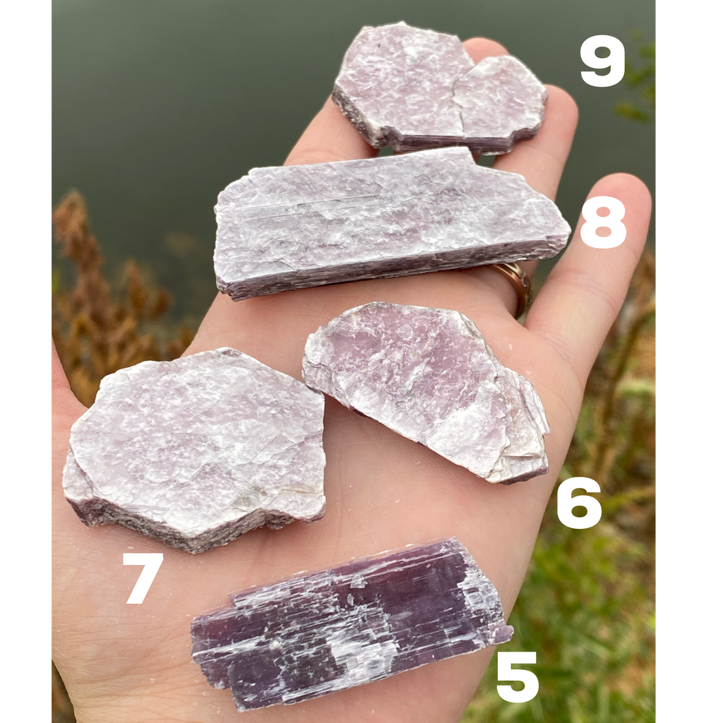 Lepidolite mini slabs