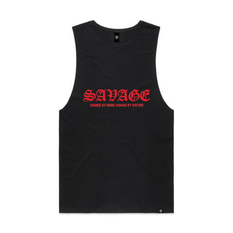 SAVAGE BY NAME SAVAGE BY NATURE Men's Organic Singlet