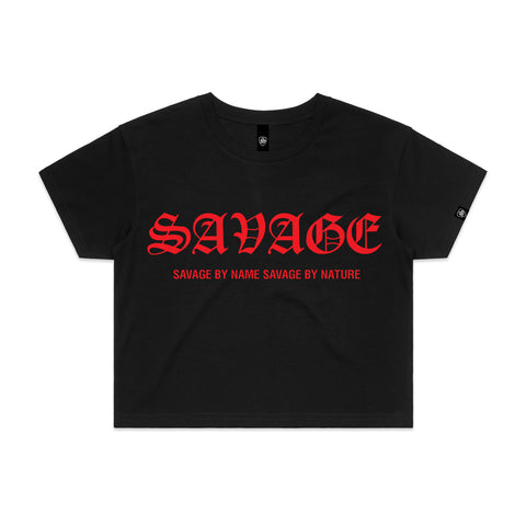 SAVAGE BY NAME SAVAGE BY NATURE Women's Crop T-Shirt