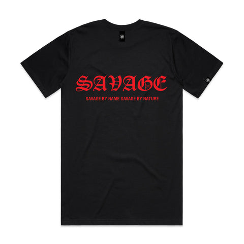 SAVAGE BY NAME SAVAGE BY NATURE Men's T-Shirt