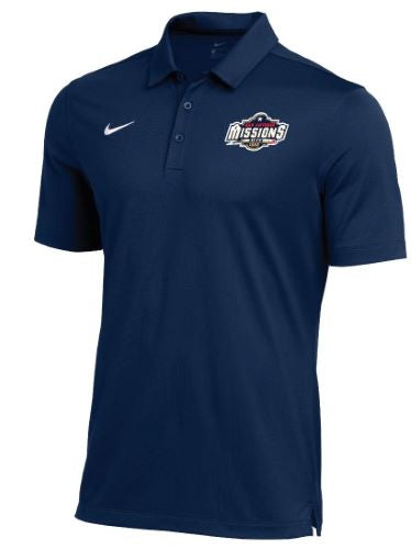 San Antonio Missions Nike Franchise Navy Polo
