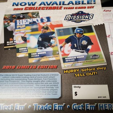 San Antonio Missions 2019 MissionsTeam Set Baseball Cards
