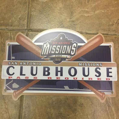 San Antonio Missions Club House sign